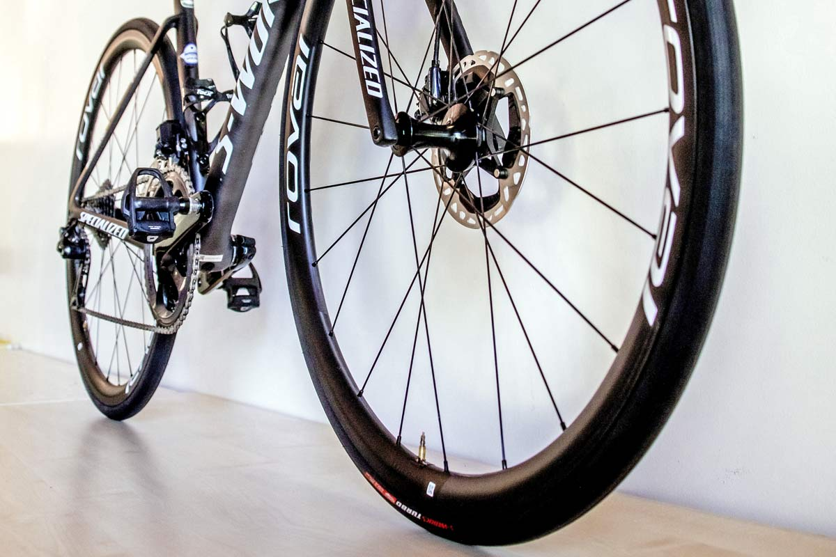 Julian Alaphilippe 2020 Tour de France Stage 2 on Specialized clincher tires inner tubes non-tubeless carbon wheels,
