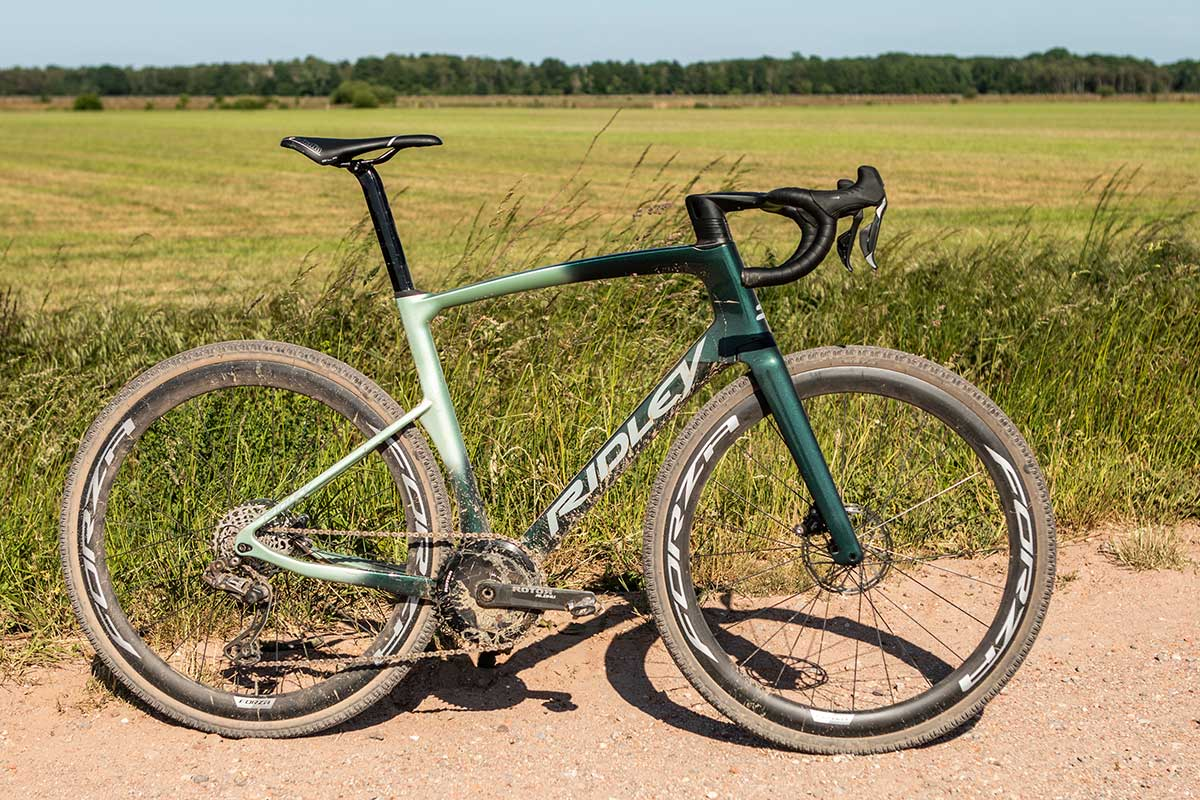 green fade color for the ridley kanzo fast aero gravel bike