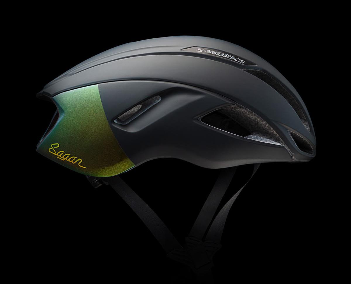 Peter Sagan's Deconstructivism collection by Specialized evade helmet