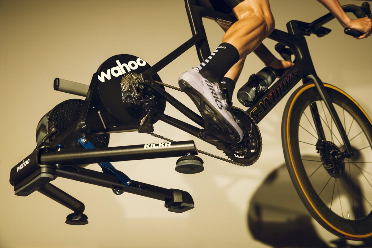kickr axis feet allow indoor cycling trainer to have rocking motion