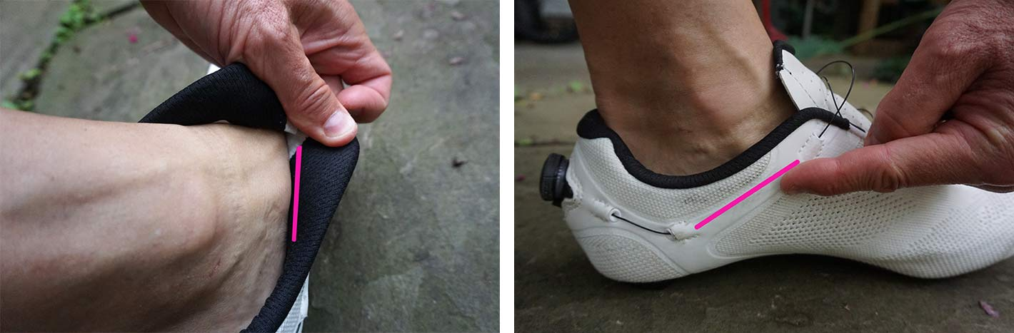 bontrager baliista knit road bike shoe closeup details