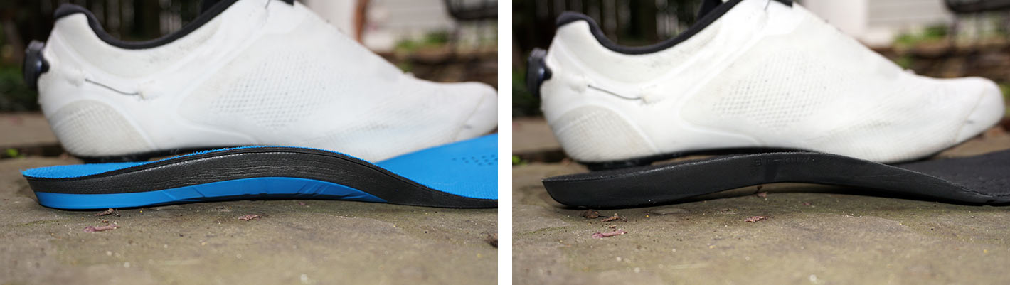 bontrager superfeet cycling shoe insoles offer more arch support