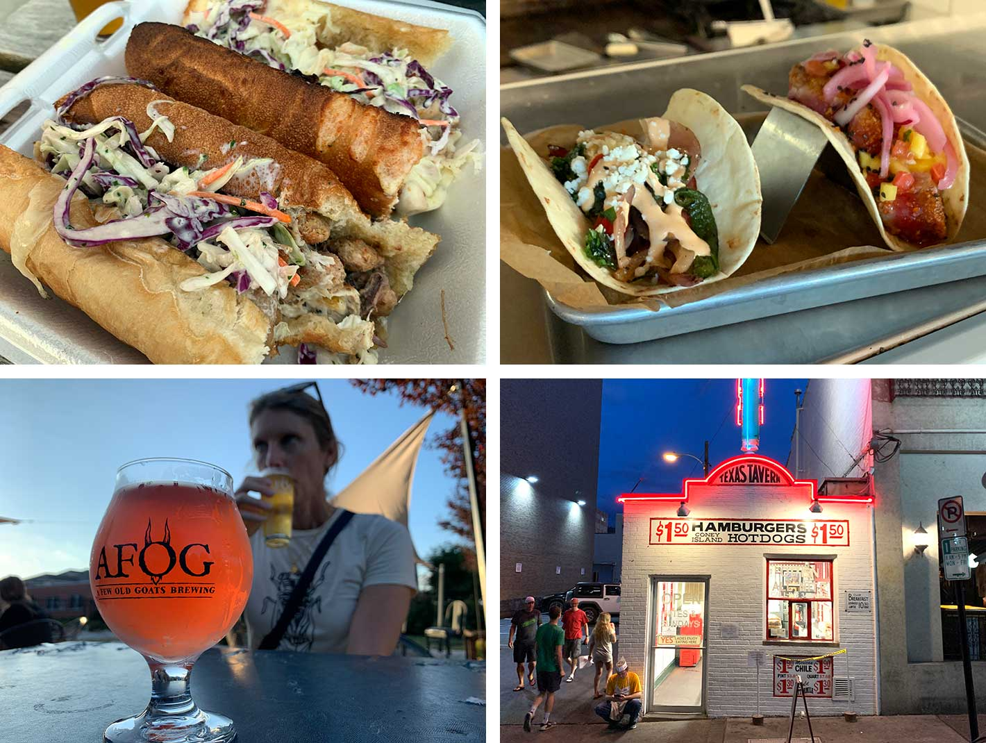 tacos sandwiches beer and hot dogs are great food options in roanoke virginia
