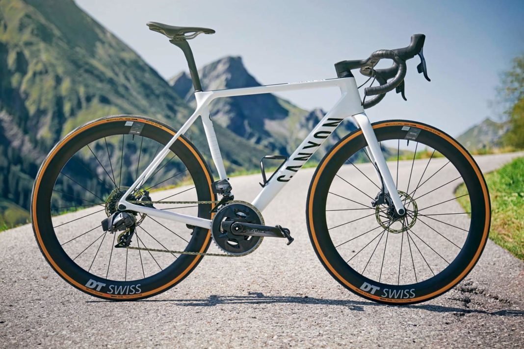 2021 Canyon Ultimate CF SLX lightweight disc brake road bikes