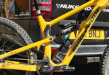 new nukeproof enduro bike spotted ews zermatt team crc pits full carbon frame