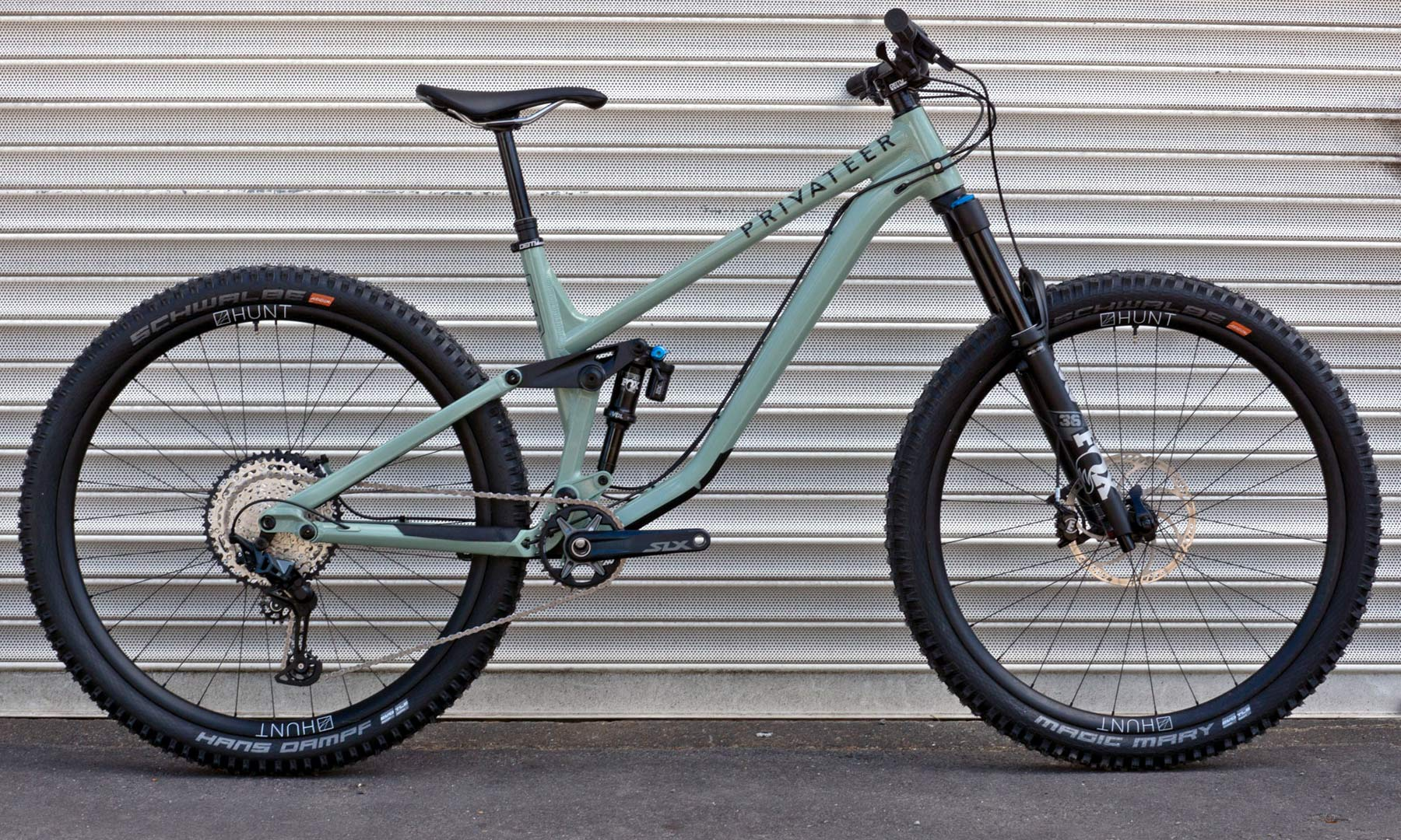 Privateer 141 all-mountain trail bike, affordable alloy 29er trail enduro all-mountain bike, Heritage Green complete bike