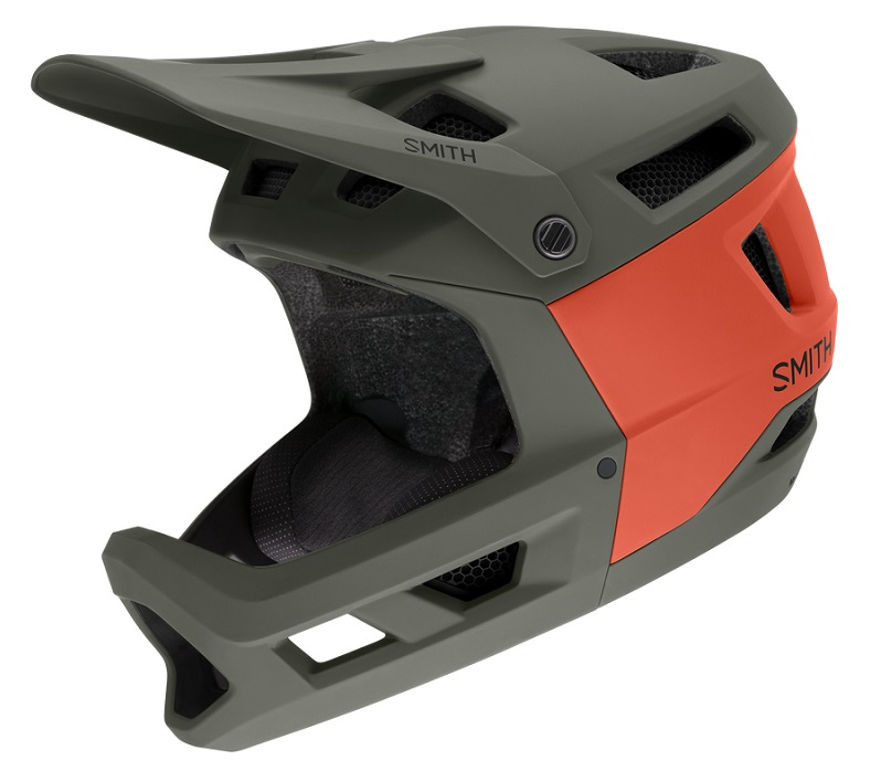 Smith Mainline full-face helmet, Sage/Red Rock colorway