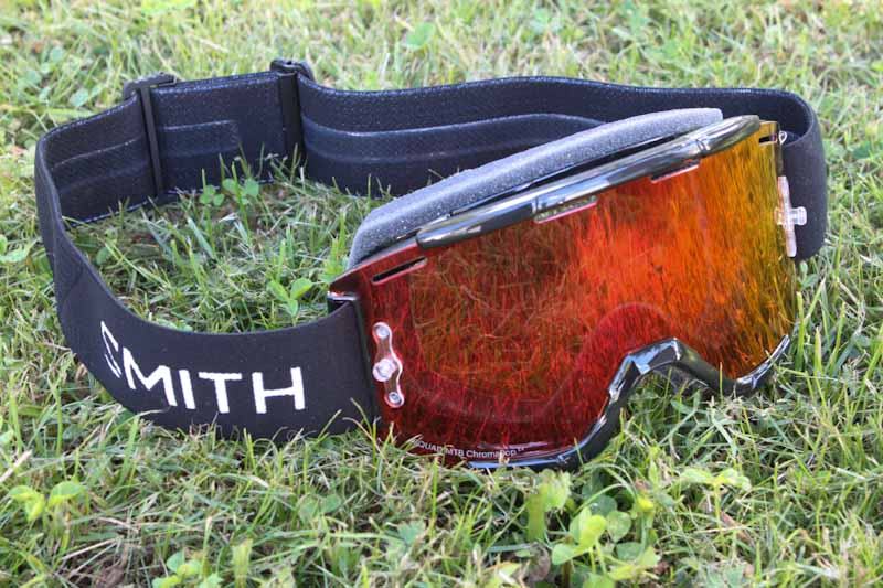 Smith Squad MTB goggles, on grass