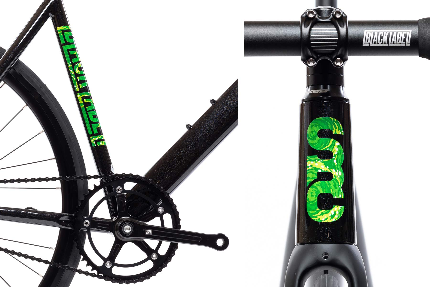 State Bicycle Co x Rick and Morty collection, limited edition interdimensional portal bikes clothing accessories, Black Label details