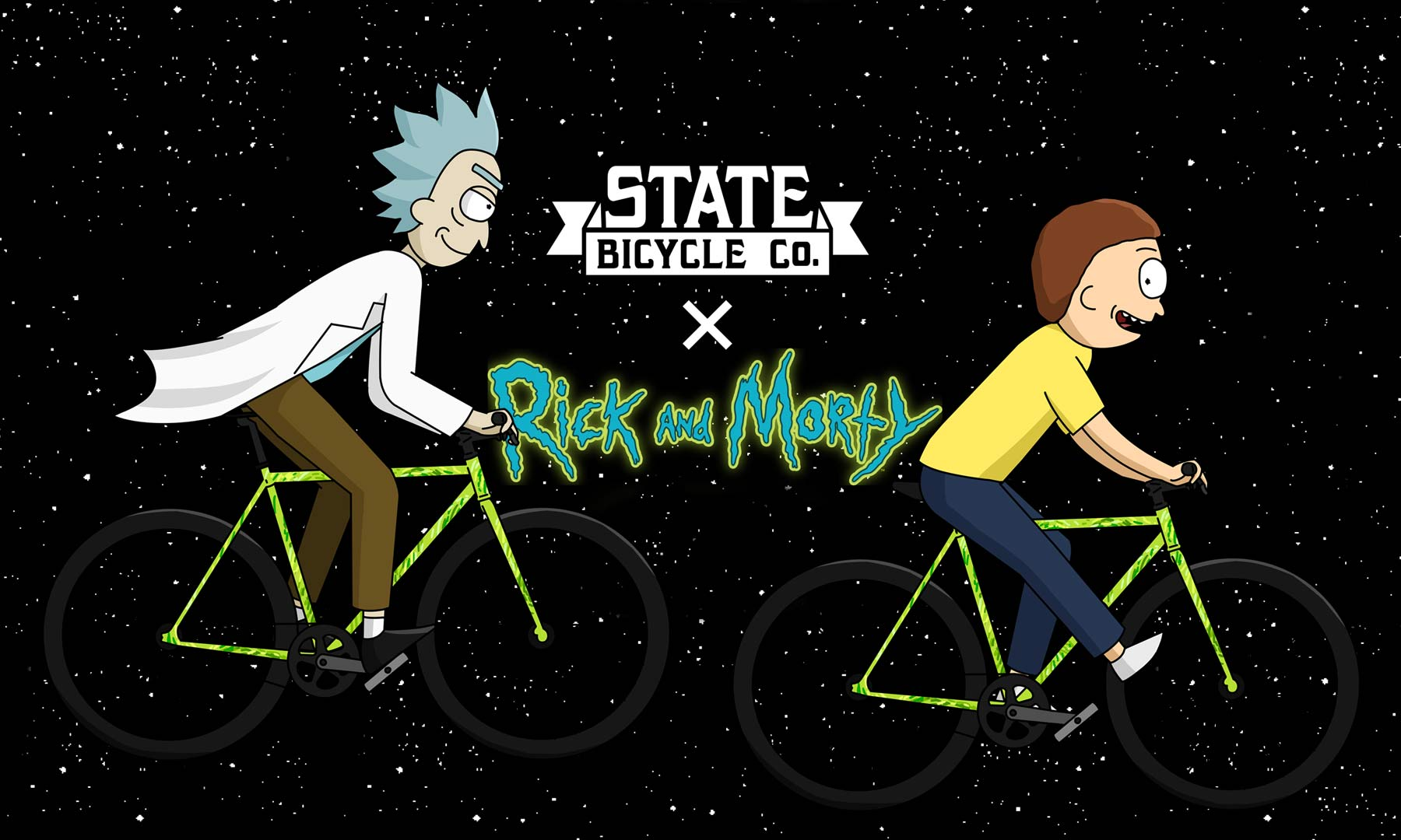 State Bicycle Co. X Rick & Morty collection, limited edition bikes, clothing & more