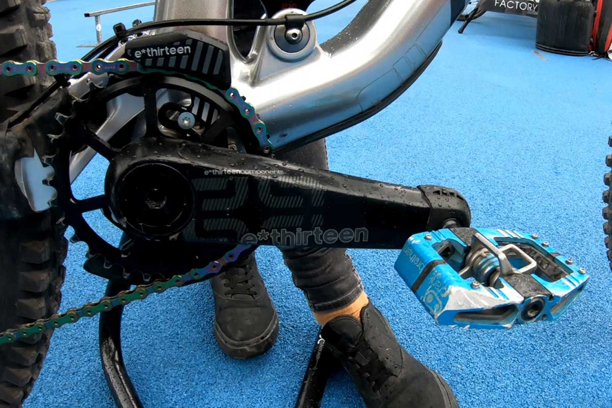 anita gehrig files down crankbrothers mallet pedal improve clearance rock strikes