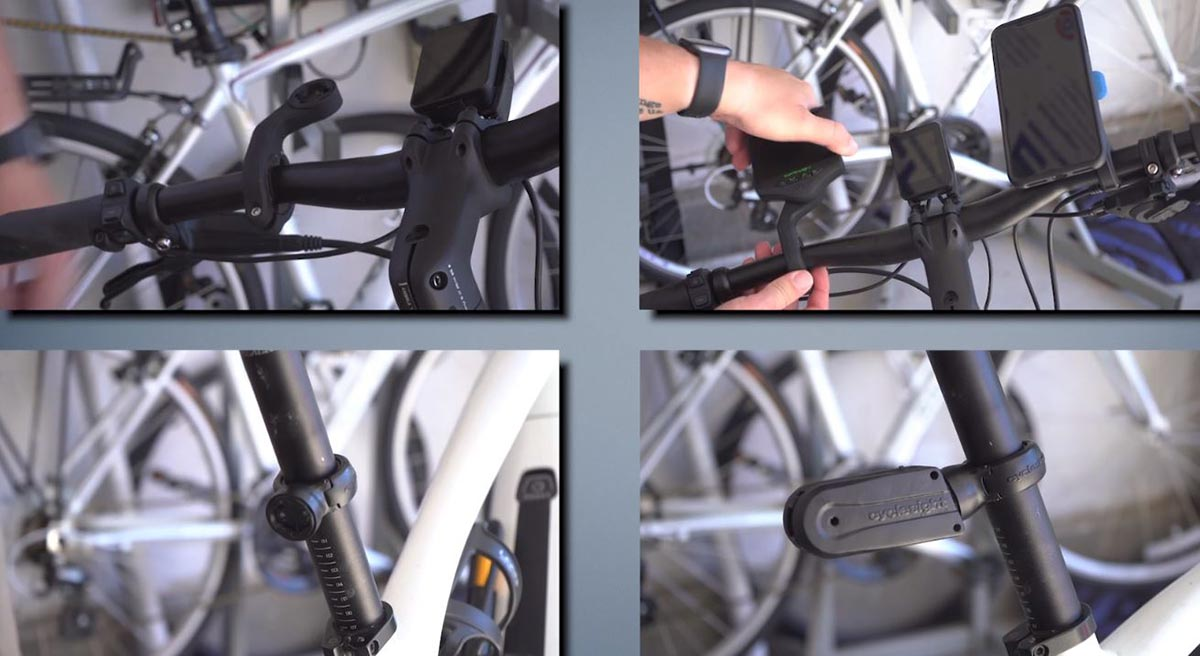 installing cyclesight rear view camera for commuting by bike garmin style clamp lock mounts