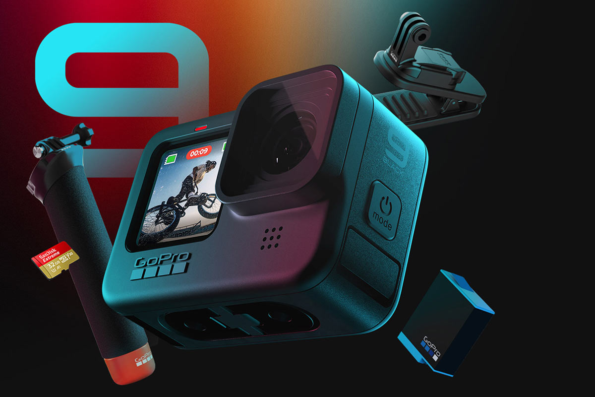 accessories bundle included with GoPro hero9 black action camera