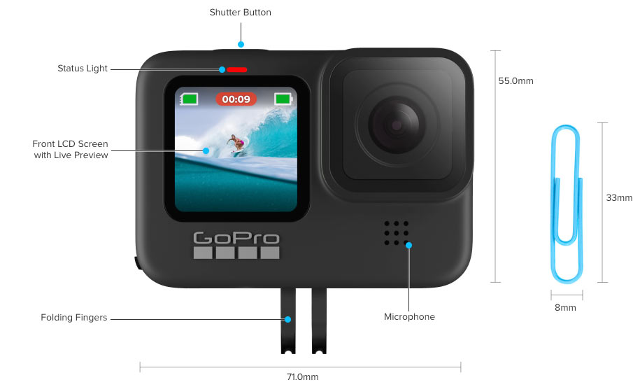 GoPro hero 9 action camera features and details