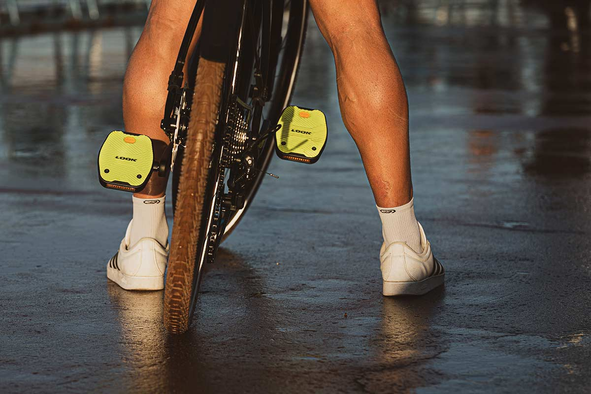 look geo cirt grip urban cycling pedal commuter all weather grip with reflectors