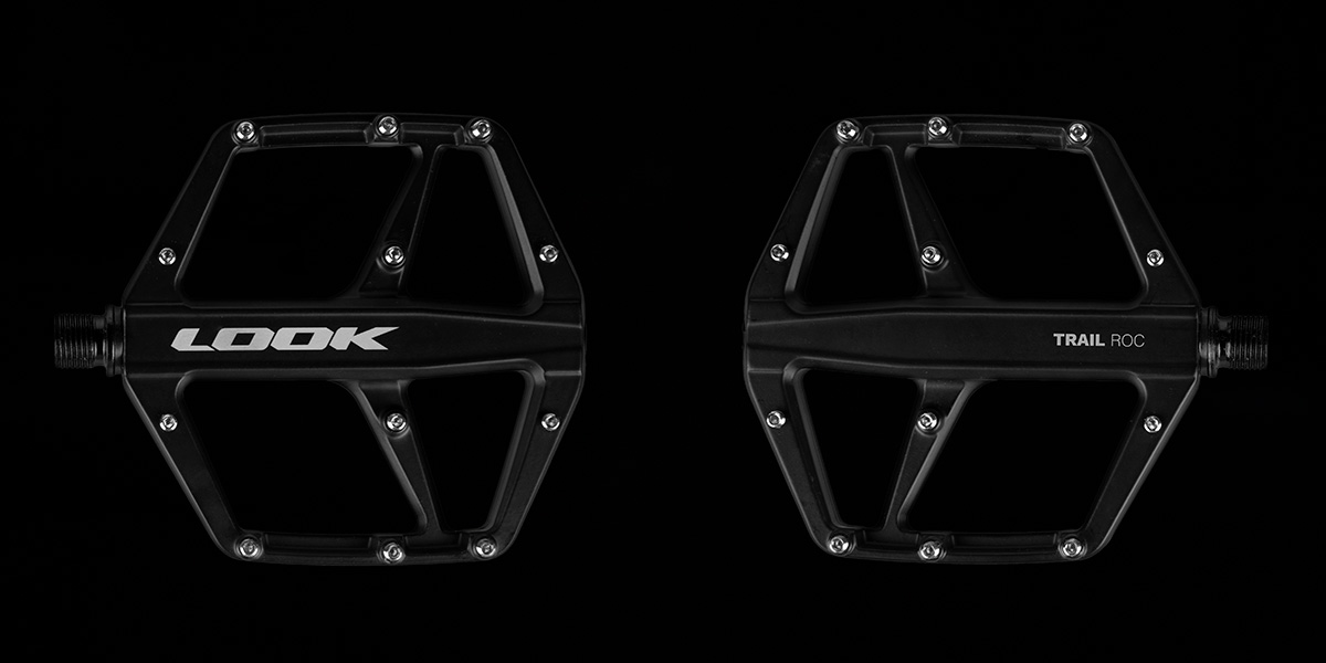 new flat pedals for mtb from look have 110mm x 110mm platform area