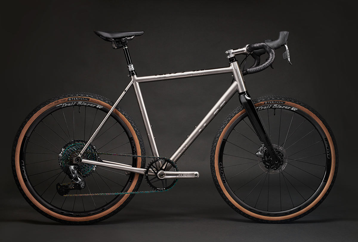 no 22 gravel bike with stealth frame coupler turns it into a breakaway travel bike