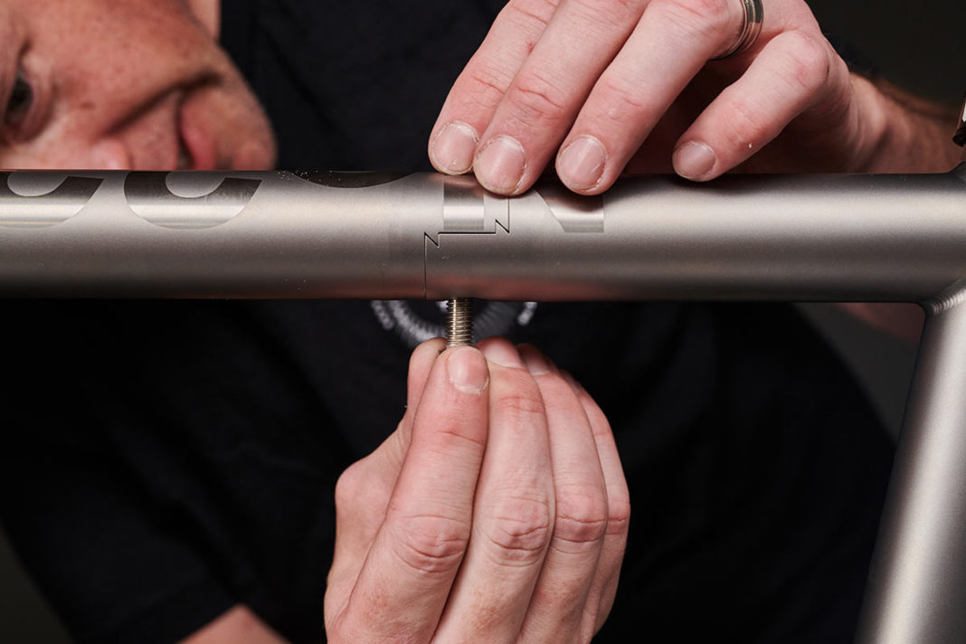 stealth frame coupler link for number 22 titanium bicycles