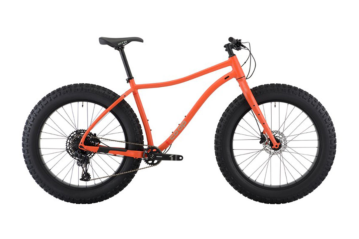rei co-op DRT 4.1 fat bike mountain bike for riding in the snow and soft sand