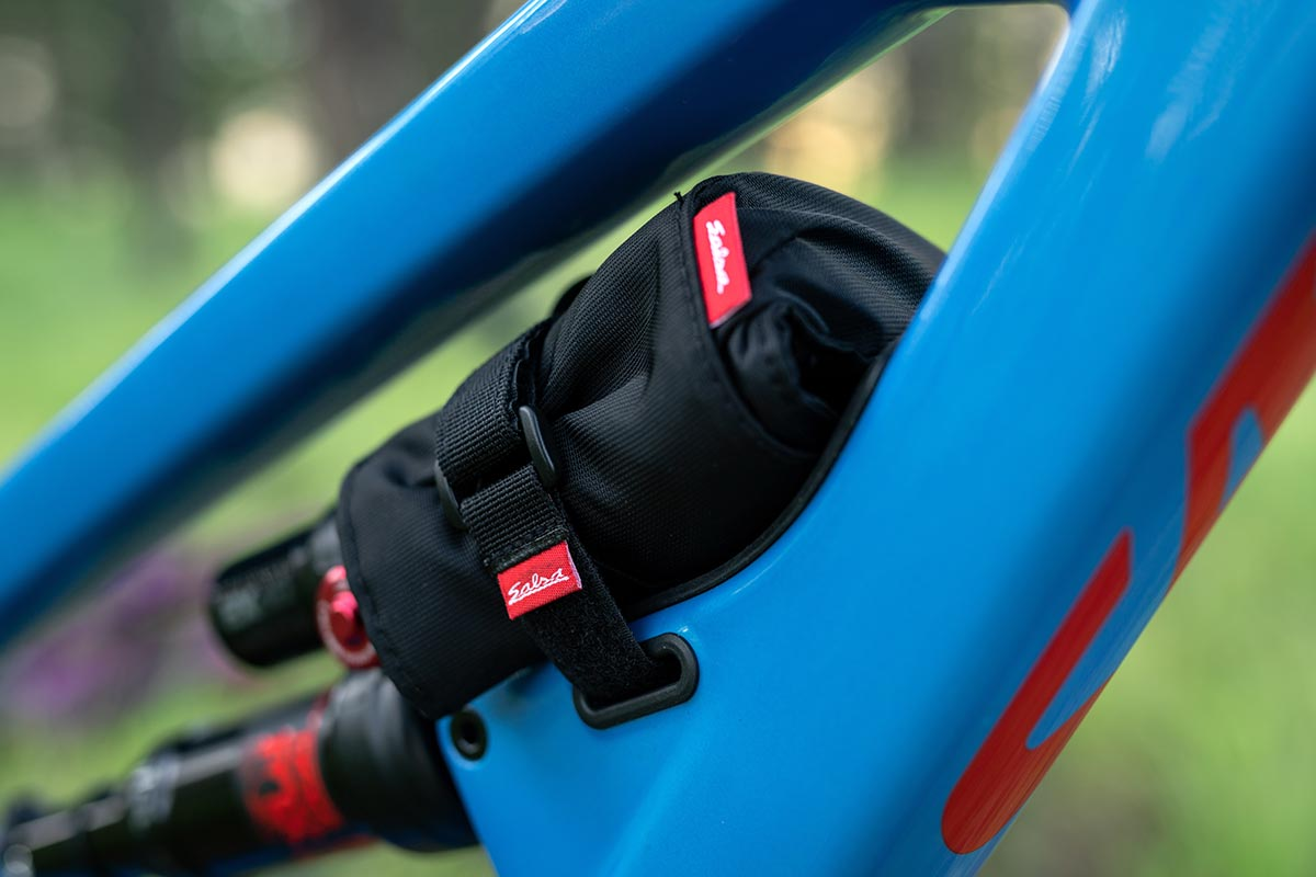 store tools spares on front triangle trail bike