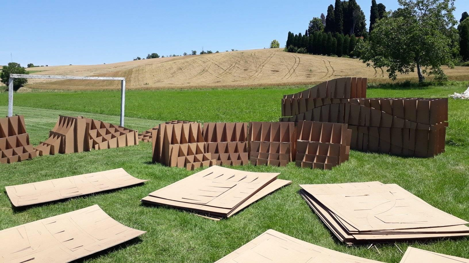 perfect pump track with cardboard forms from Easy Pumptracks