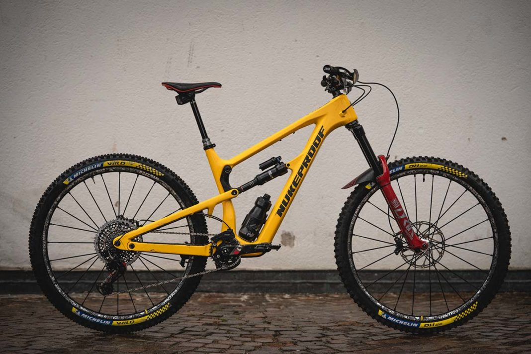 2021 nukeproof mega custom yellow frame only