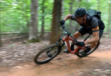 fezzari delano peak mountain bike review riding action
