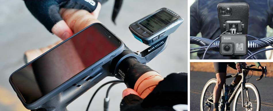 Mobile by Peak Design phone case and mounts, magnetic and secure locking mobile phone bike mounts everyday case charging adapters,bike mount options