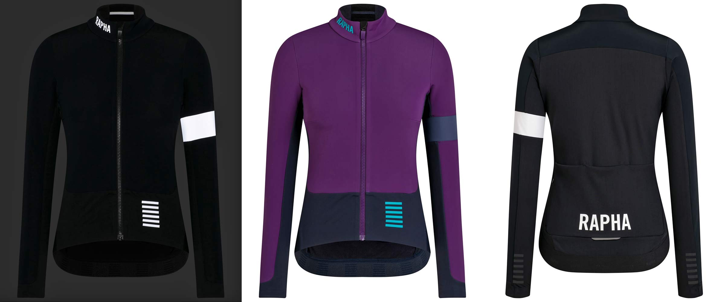 Rapha Pro Team Winter road riding racing training collection, Pro Team Winter Jacket, women's colors
