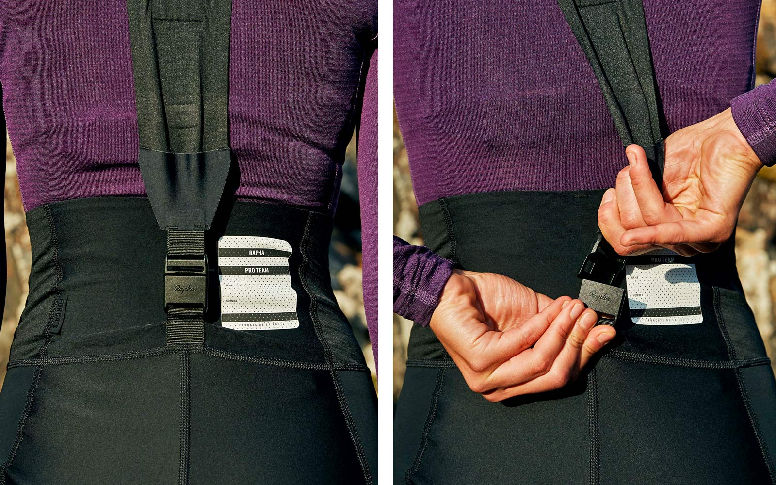 Rapha Pro Team Winter road riding racing training collection, Women's Pro Team clasp