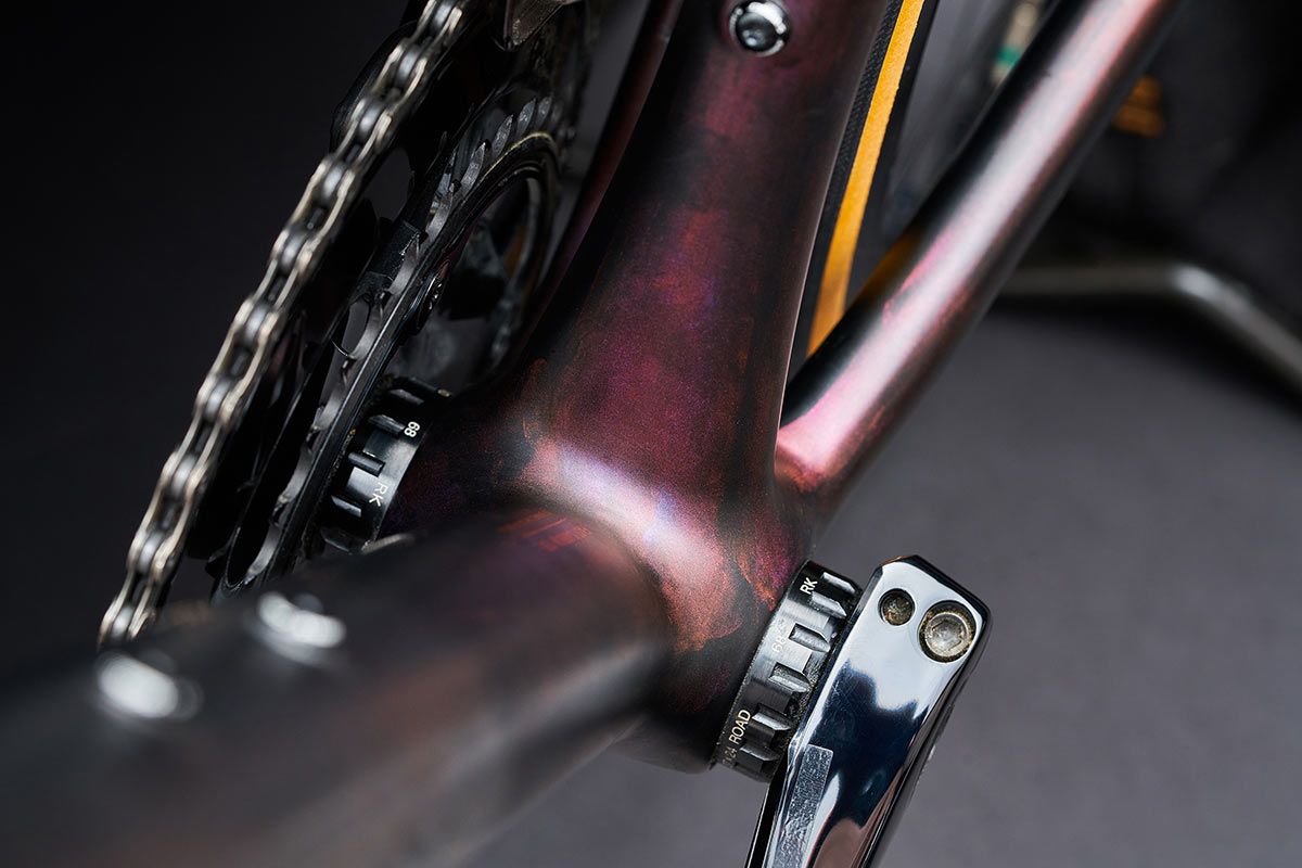 detail photos of the specialized aethos s works road bike