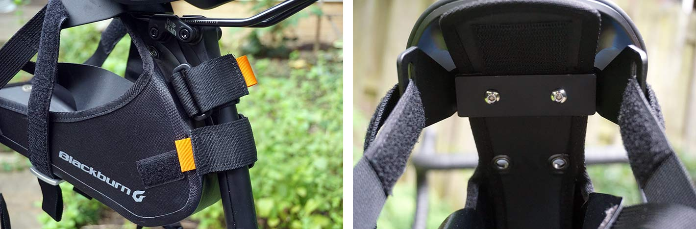 standard seatpost mounting straps for the blackburn outpost saddle bag