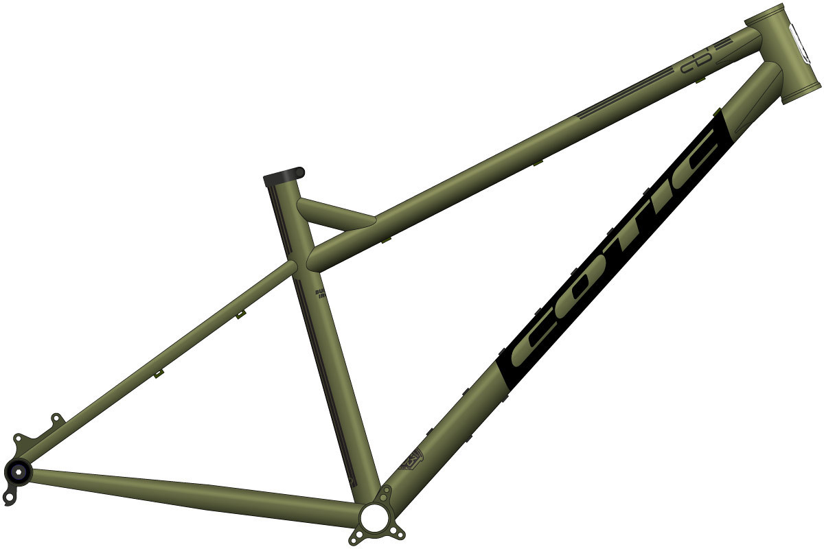 "army green cotic bfe 27.5"" 650b 2021 steel hardtail mtb"