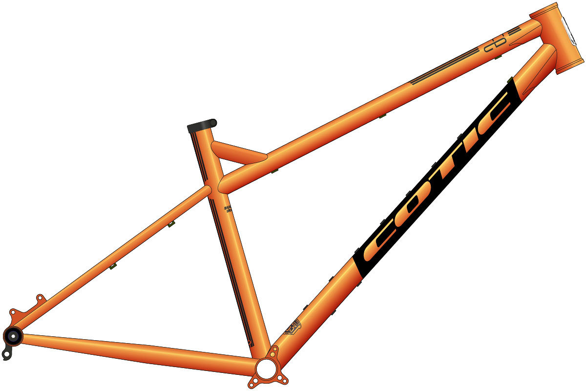 "cotic release bfe 27.5"" hardtail mountain bike early 7th generation geometry 2021 frame steel"