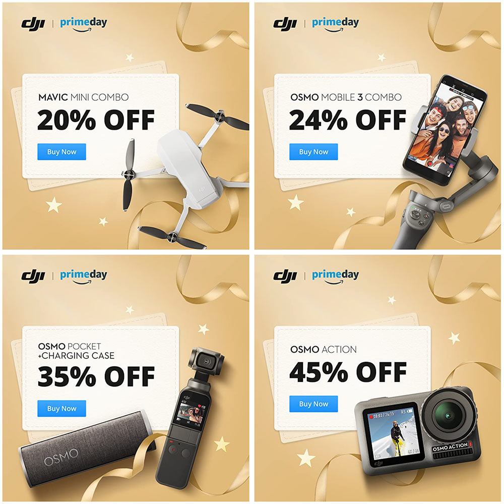 prime day deals on dji mavic mini and Osmo action cams and gimbals