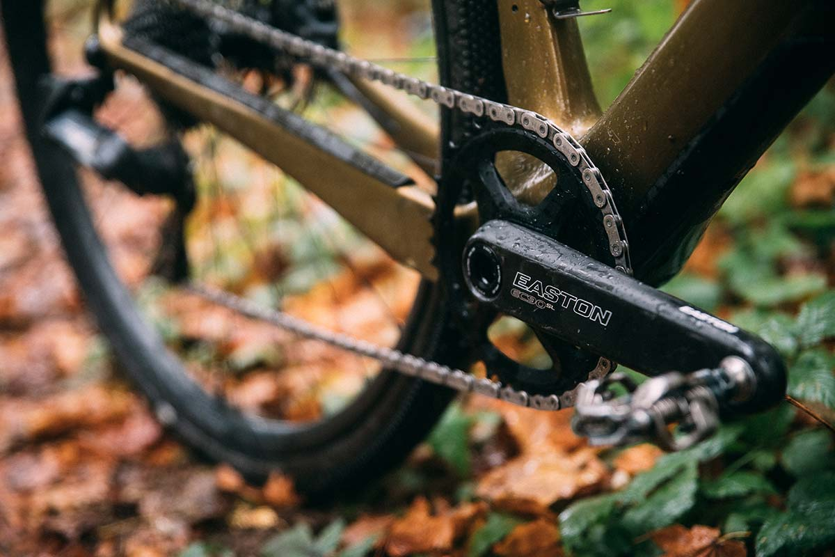 easton cycling add flattop compatible cinch direct mount chainrings for axs gravel bike autumn leaves