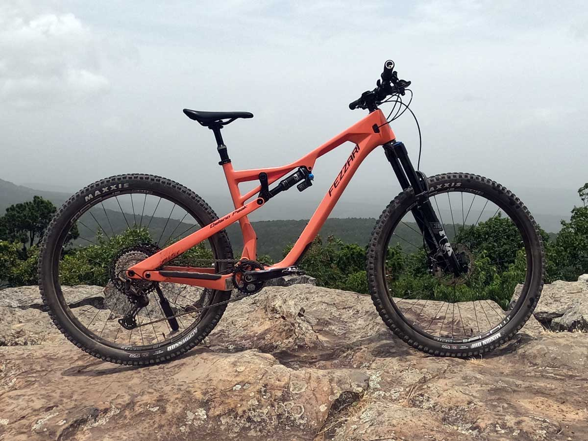 fezzari delano peak frame features and tech details with full ride review