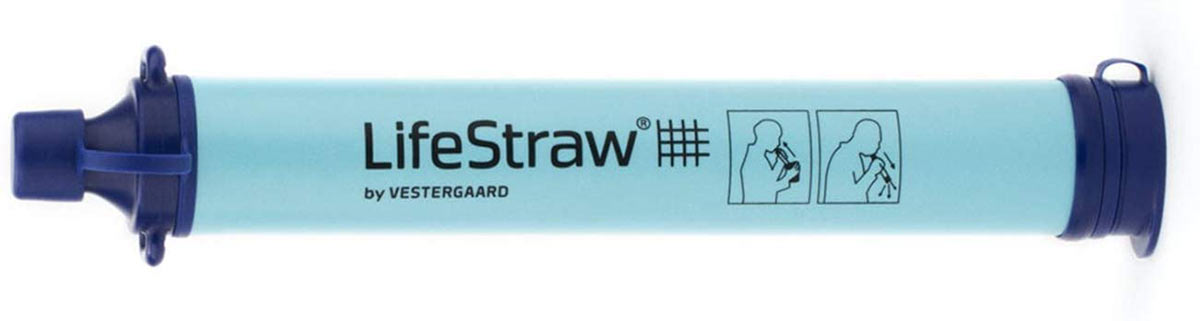 lifestraw personal water filtration device for backcountry hiking and cycling