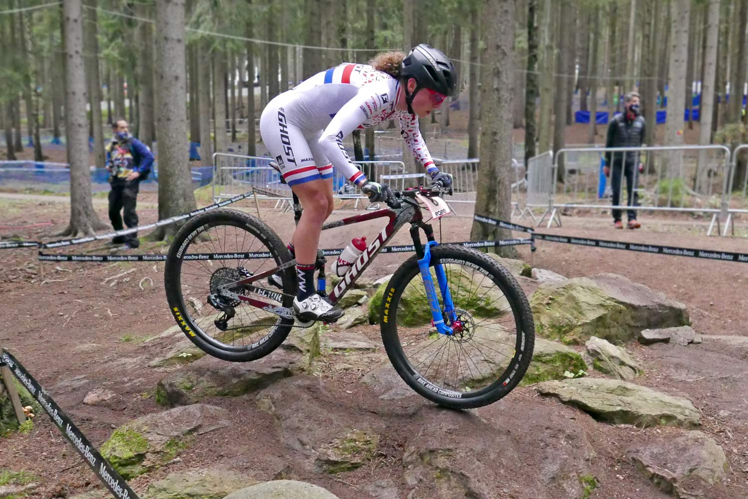 prototype Ghost Lector FS XC bike, full suspension cross-country mountain bike, Nove Mesto World Cup, Anne Terpstra Rock 'n Roll