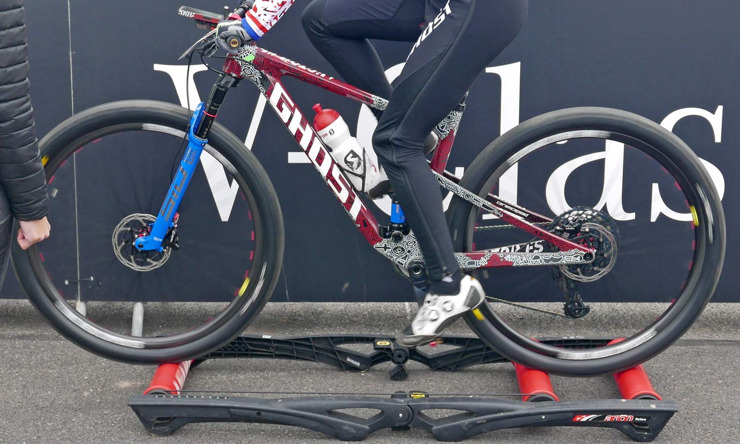 prototype Ghost Lector FS XC bike, full suspension cross-country mountain bike, Nove Mesto World Cup, Anne Terpstrarollers