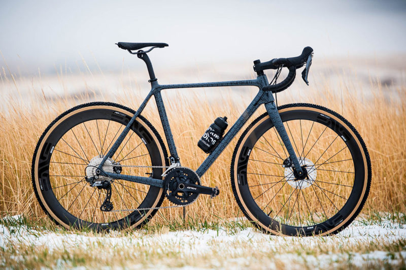 pursuit cycles all road gravel racing road bike shown in a field of wheat