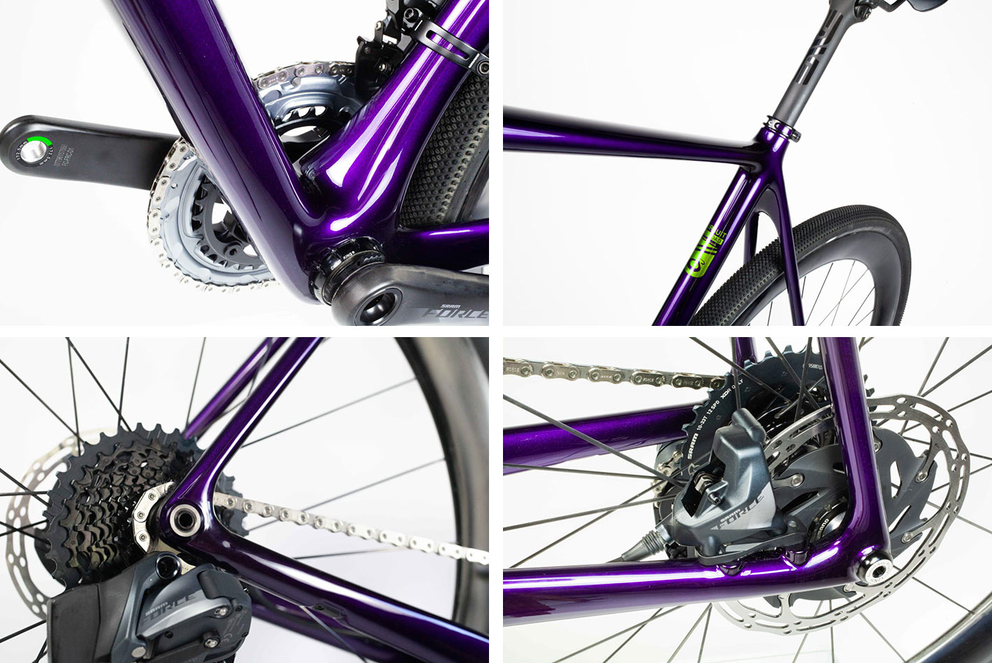 frame detail closeups for the pursuit cycles all road bike