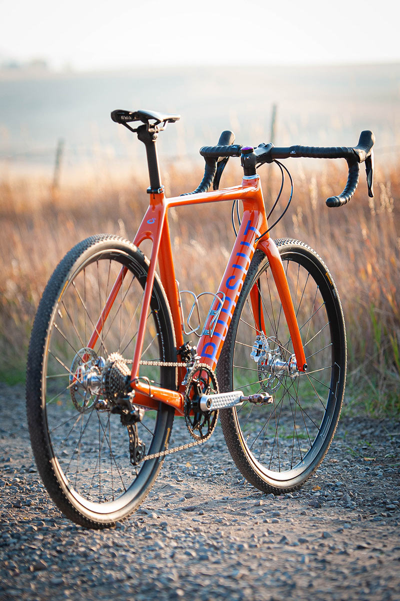 pursuit cycles all road gravel racing road bike rear view