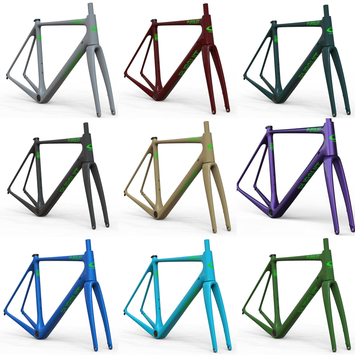 pursuit cycles all road stock paint color options
