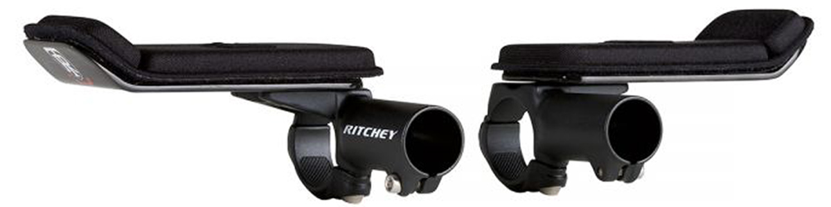 ritchey logic time trial clip-on arm rests silver