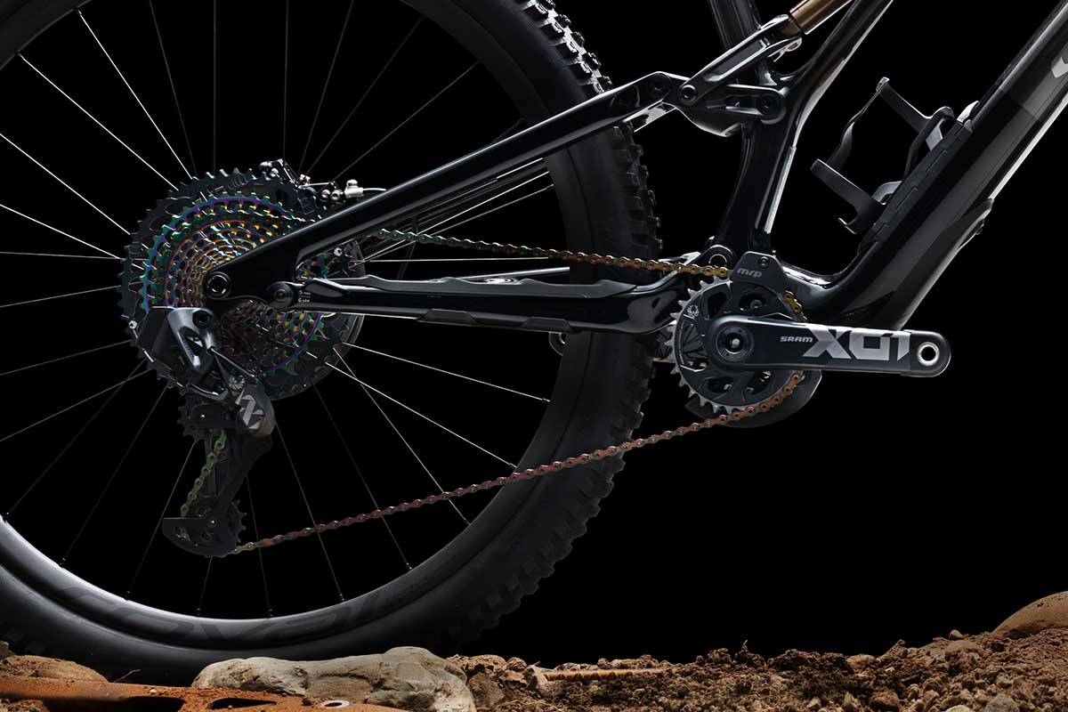 specialized stumpjumper evo frame protection proprietary chainstay chain slap rubber keeps bike quiet