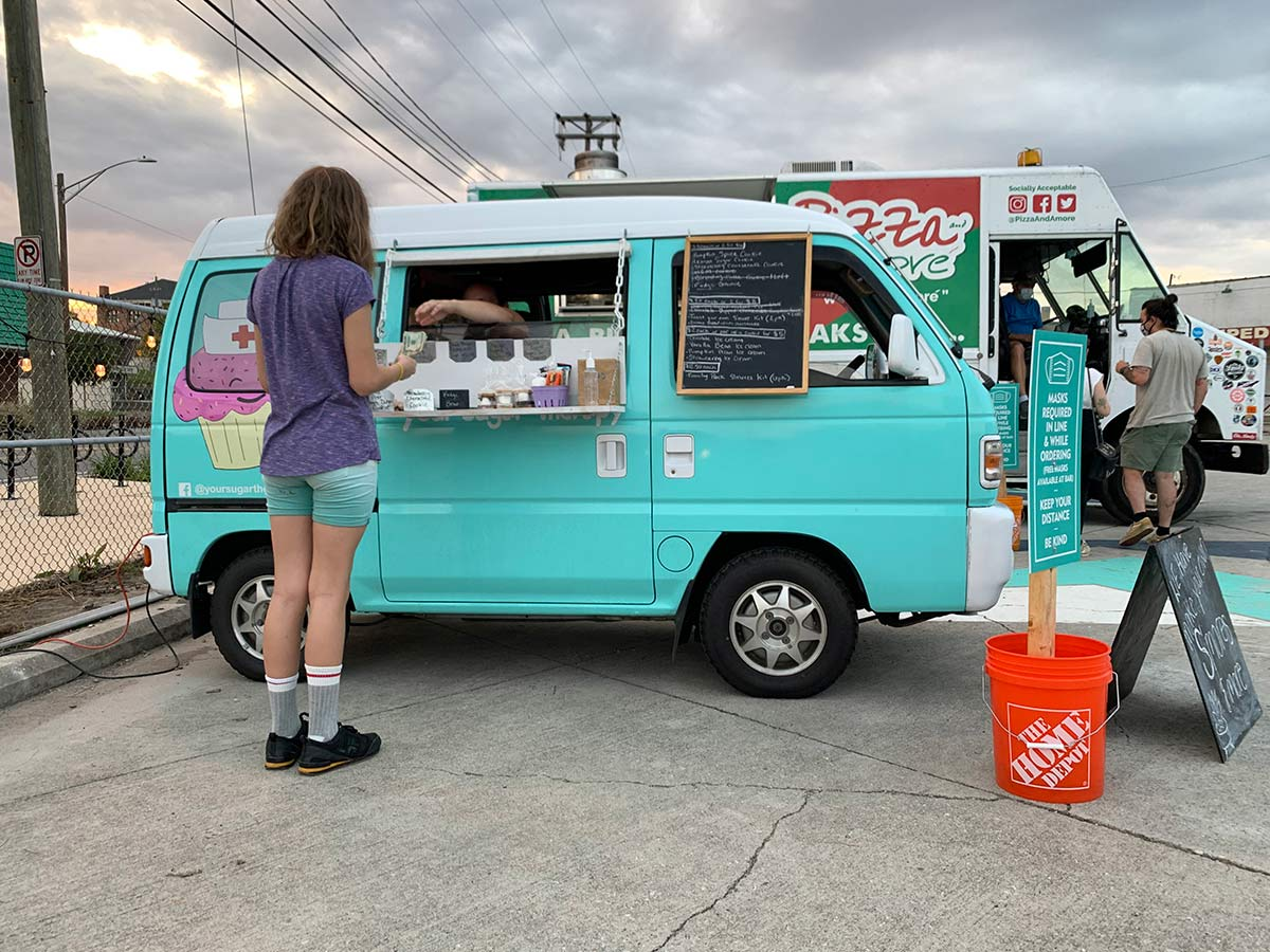 knox food park has food trucks that sell smores ingredients so you can make your own