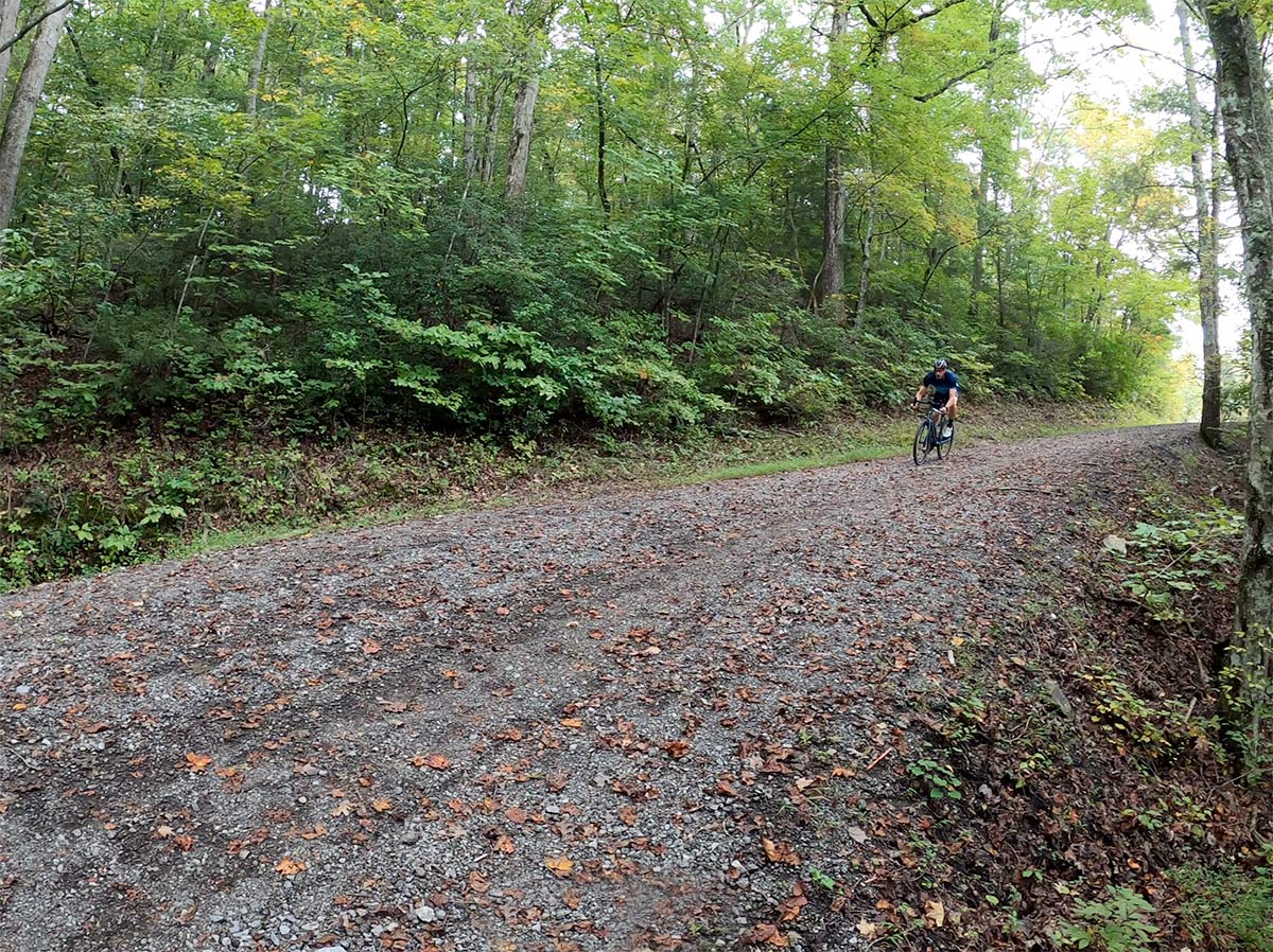 gravel cycling near knoxville on the north boundary greenway dirt roads