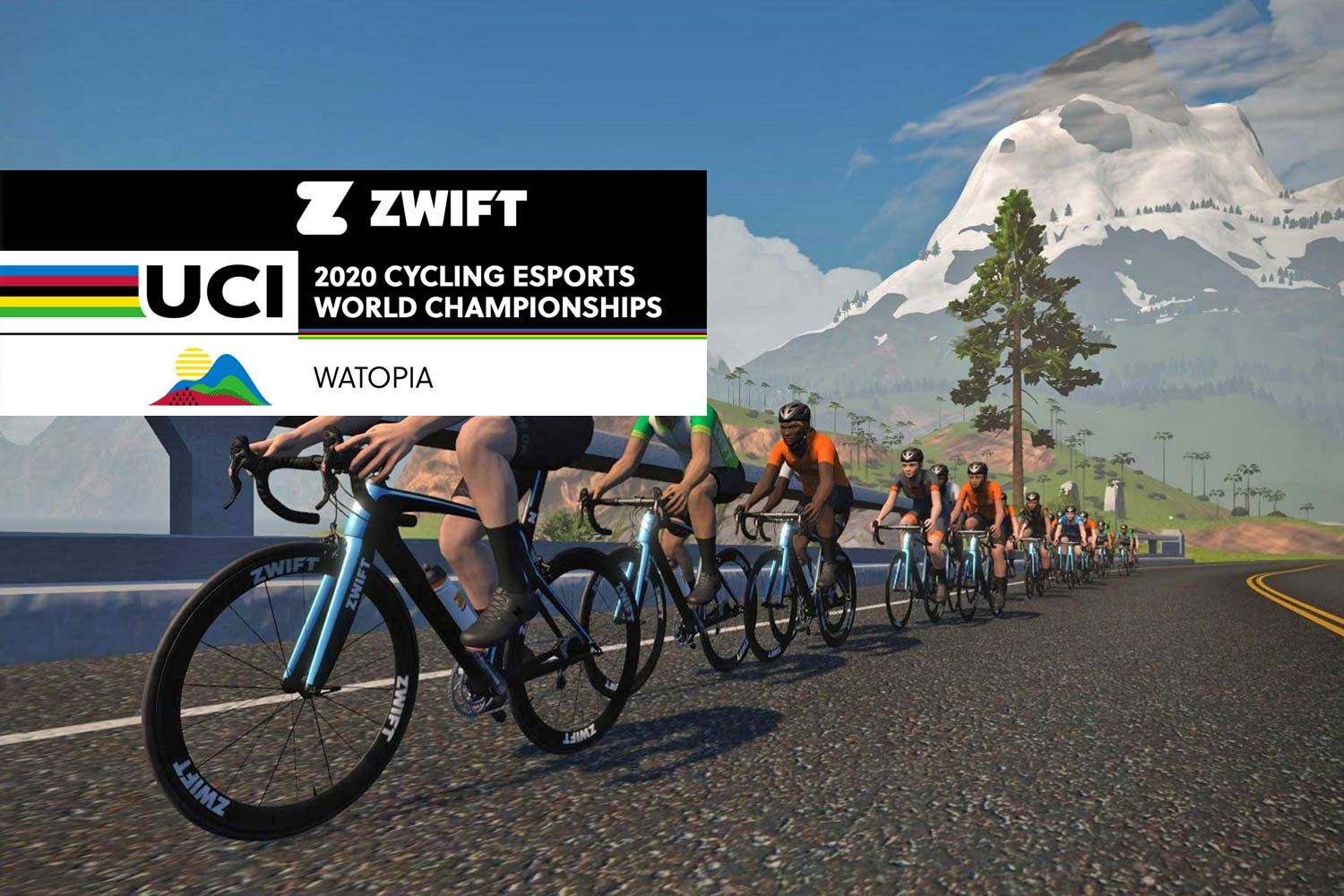 2020 UCI Cycling eSports World Champs in Watopia course