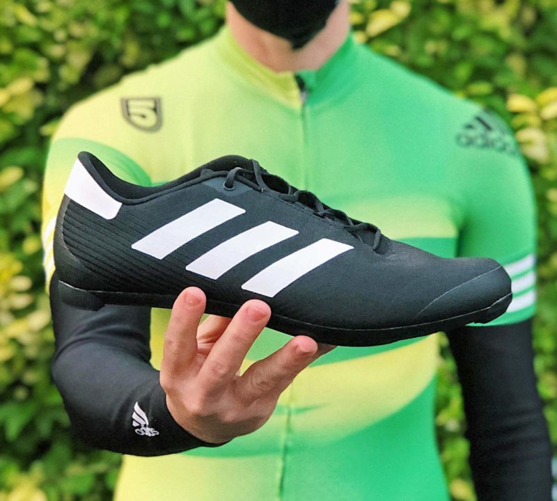 Adidas The Road Cycling Shoes, all-new mid-price lace-up soccer football style road bike shoe